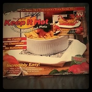 """Keep It Hot"" As Seen On TV Hot Plate"